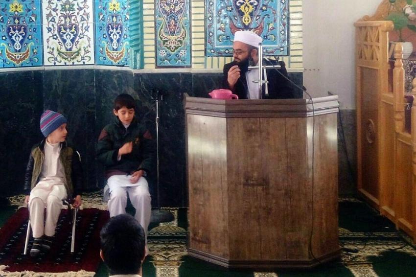 محفل انس با قرآن در محل مسجد جامع خرگرد